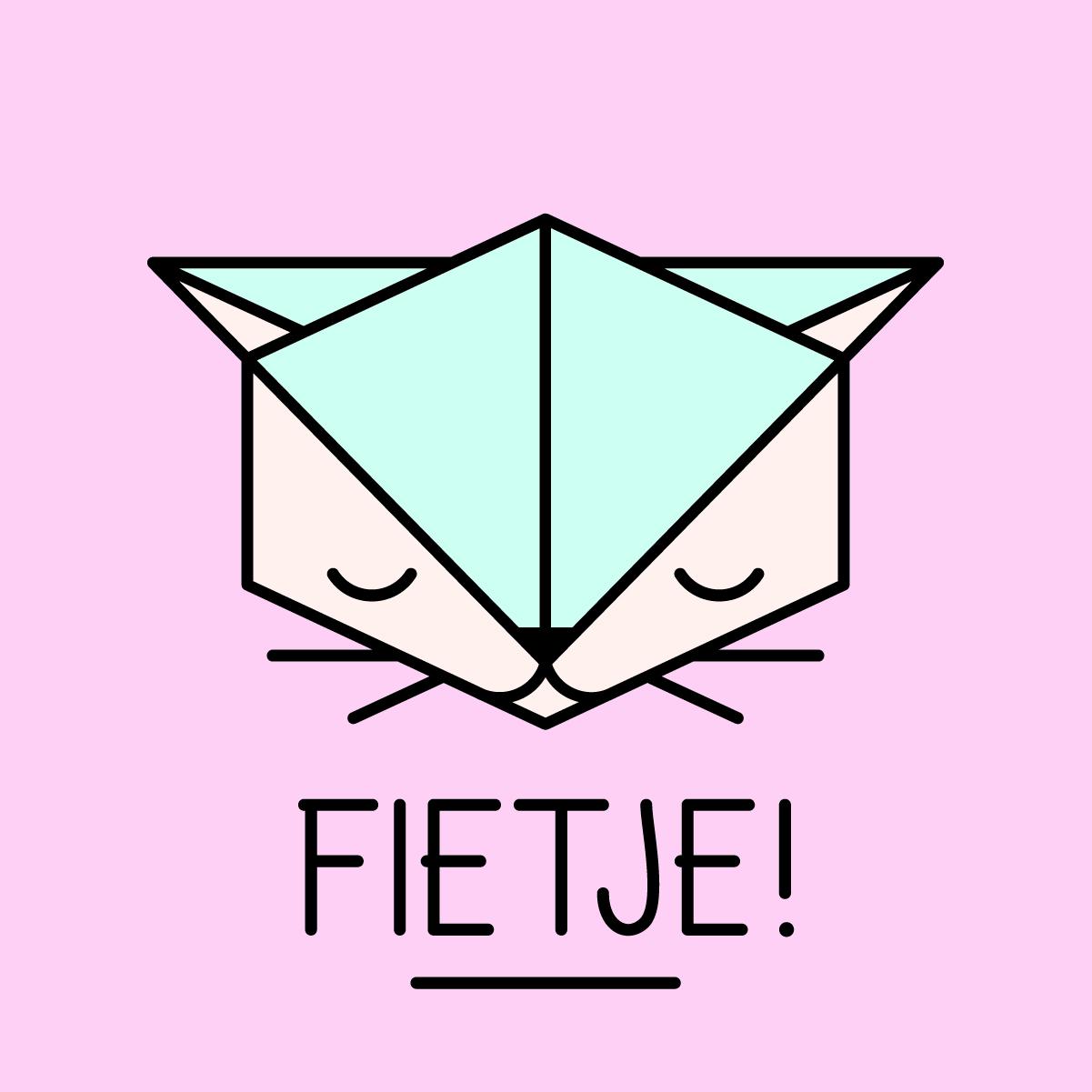 Logo Fietje roze